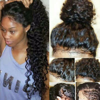 Indian Virgin Human Hair 360 Lace Front Wig Pre Plucked Silk Top Full Lace Wig 8