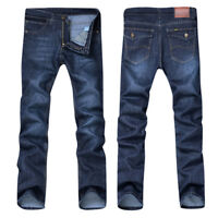 Cool Men Casual Autumn Denim Cotton Hip Hop Loose Work Long Trouser Jeans Pants
