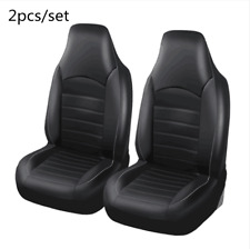 Universal 2 Front High Back Car Seat Covers Pu Leather Vehicle Seat Protection