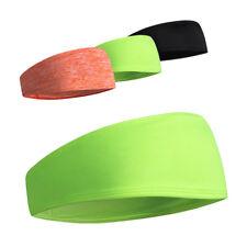 Men Women Sport Sweatband Headband Gym Stretch Wrap Workout Head Hairbands Green