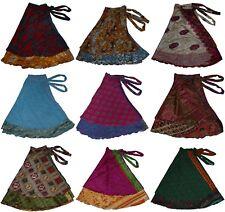 """Plus Size Lot Of 5 Pcs Wholesale Skirts Sari Magic 36"""" XL"""