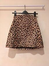 ZARA BASIC Animal Print Leopard skirt size S 8 10