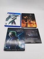 Final Fantasy VII (7) PS4 Deluxe Edition,  Steelbook,Art Book, Mini Soundtrack