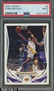 2004-05 Topps #8 Kobe Bryant Los Angeles Lakers HOF PSA 9 MINT