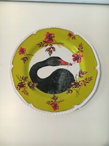 "NEW, Anthropologie, Lou Rota ""Nature's Table"" Black Goose Plate"