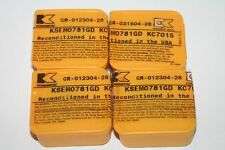 (Lot of 4)  KENNAMETAL KSEM0781GD KC7015 Reconditioned Inserts