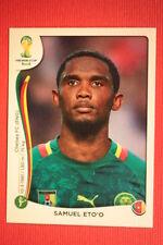 Panini BRASIL 2014 N. 107 ETO'O CAMEROUN WITH BLACK BACK TOPMINT!!