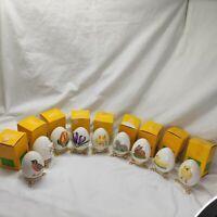 Lot of 9 Hummel Goebel Easter Egg 1978-1986 W Germany w/original box