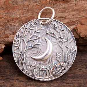 Moon Pendant 925 sterling silver jewelry