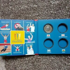 2002 £2 COMMONWEALTH GAMES  ALBUM holds England Wales N Ireland Scotland coins