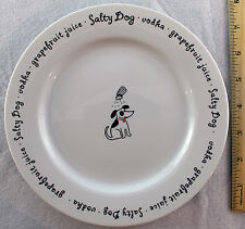 Pottery Barn Salty Dog Bar Lingo Plate Dessert Cocktail Liqueur Recipe Beagle