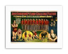 CIRCO Robinson uomo forte Louis CYR Poster Pubblicità STAMPE SU TELA ART
