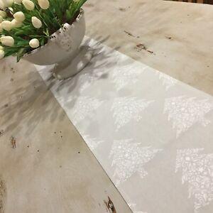 Christmas Table Runner, Taupe & White Table Runner, Quality Australian Handmade