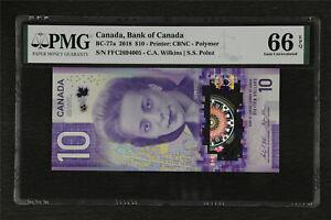 2018 Canada Bank of Canada BC-77a 10 Dollars PMG 66 EPQ Gem UNC