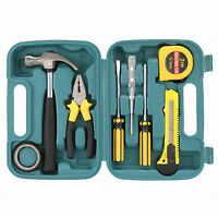 8Pcs/Set Hand Carry Tools Kit in Box For Home Fix Repair DIY Toolbox Set