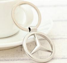 "3D Metal Car Logo Keychain 3.5cm(1.38"") Pendant Ring Key Holder For Mercedes"