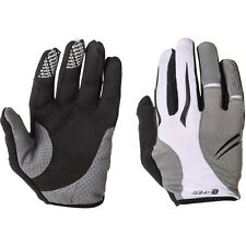 Evo Espresso Gel Pro Full Finger Glove White Medium Breathable Lightweight