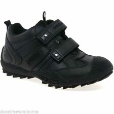 Geox Leather Upper Shoes for Boys with Hook & Loop Fasteners