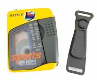 Rare Sony Sports Walkman AM/FM Cassette Player WM-FS397 HEADPHONES & BELT CLIP