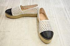 **Loeffler Randall Mariko Leather Espadrilles, Women's Size 7.5B, White