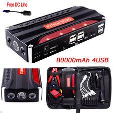 80000mAh Portable Car Jump Starter Pack Booster Power BANK Battery Charger SOS !