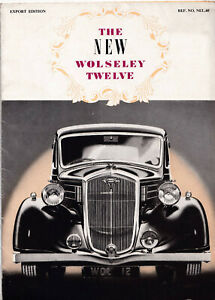 THE NEW WOLSELEY TWELVE EXPORT EDITION BROCHURE, REF.NO.NEL-40.