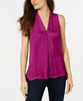 Vince Camuto Inverted-Pleat Top fuchsia Dark Pink Size S