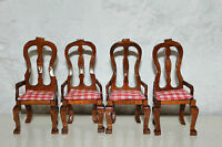 DOLLS HOUSE MINIATURE - FOUR DINING CHAIRS - 1/12th scale