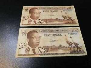 CONGO 100 FRANCS 1961-1962
