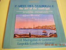 LP I MADRIGALISTI DI GENOVA LEOPOLDO GAMBERINI THE ART MADRIGAL SIGILLATO SEALED