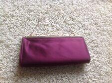 Badgley Mischka Purple Satin Evening Small Handbag Purse Clutch Jeweled Gold