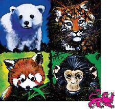 Jigsaw puzzle Animal Wild Babies Polar Bear Tiger Fox Monkey 1000 piece New