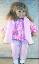"Doll Clothes Made 2 Fit American Girl 18"" in Fleece Jacket Pants Beret' 3pc"