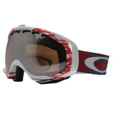 Oakley 57-790 CROWBAR Scratch Red w/ Black Iridium Lens Mens Snow Ski Goggles .