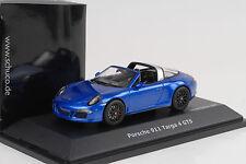 2014 Porsche 911 991 Carrera Targa 4 GTS + Roof Sapphire Blue 1:43 Schuco