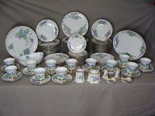 83 Pieces Of China With Bluish Lavender Flowers Handpainted By Maud Rhea Sharer