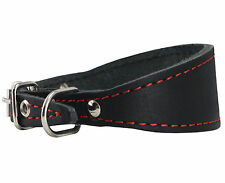 "Genuine Leather Dog Collar 8.5""-10.5"" neck Whippet Dachshund Puppy Small Breed"