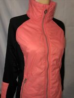 Calvin Klein Light Weight Women's Zip Jacket Sz L Neon Peach & Black. Nice
