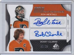 08-09 UD SP GAME USED EXTRA SIGNIFICANCE AUTO FLYERS HEXTALL & BOBBY CLARKE /25