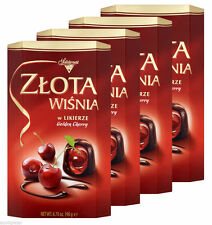 4 Packs Solidarność Cherries in Liqueur Filled Chocolate 4x190g, ZLOTA WISNIA