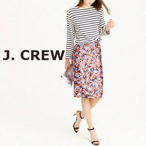 J Crew Floral Pencil  SIlk  blend Skirt