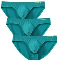 Fashion 3 Pack Men's Sexy Underwear Briefs Smooth Pants Solid Underpants
