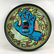 custom old school skateboard clock screaming hand santa cruz jim phillips slime