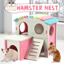 Wooden Hamster Nest House Pet Home Stairs For Small Pet Playing Sleeping Bed