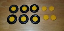 Vintage Fisher Price Construx Lot Of 10 Wheels 6 Tires