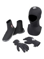 Two Bare Feet Neoprene Wetsuit Set - 3mm Gloves, 5mm Diving Hood & Wetsuit Boots