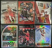 Lot of (6) Damian Lillard, Including Prizm red wave, Prizm/Optic parallel & more