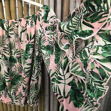 SELF ESTEEM Top L Stretch Off Shoulder Gypsy Hawaiian 3/4 Wide Sleeve Big Ruffle