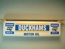 Duckhams Motor Oil Banner Classic Car Workshop Garage Vintage Style Advertising