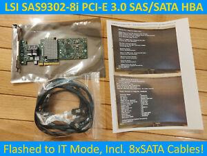 ⭐LSI SAS9302-8i 12Gb/s 8-port w/ IT-Mode PCI-E HBA JBOD FreeNAS unRAID (SAS3008)